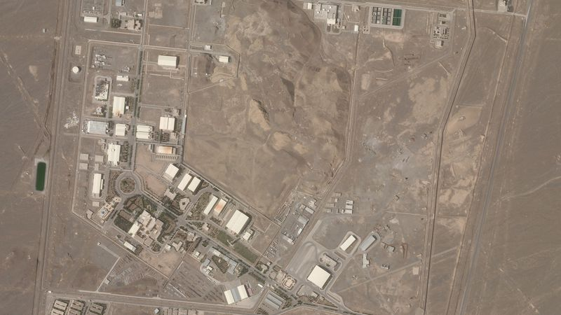 This satellite photo from Planet Labs Inc. shows Iran's Natanz nuclear facility on Wednesday,...