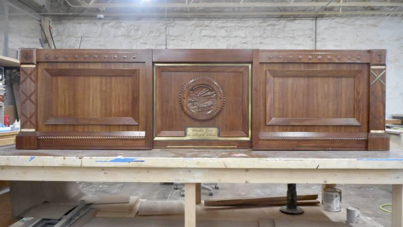 Governor Noem's desk at Pheasantland Industries