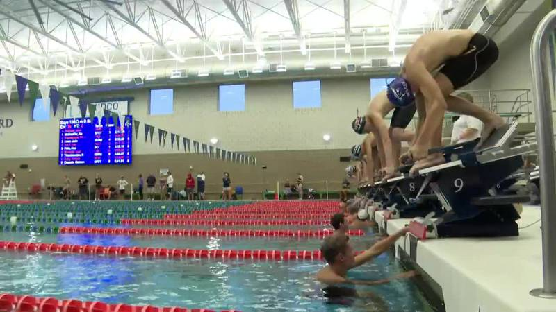 During 2021 Sioux Falls Swim Team Sanford Power Invite