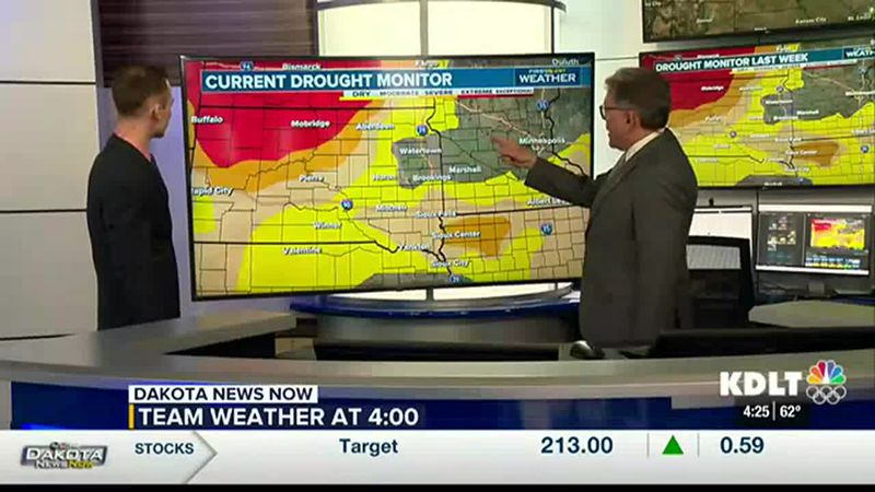 We're tracking rainfall for Saturday to help improve the drought conditions.
