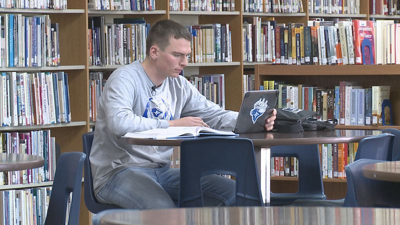 A senior at Elkton High School strives to do his best every day.