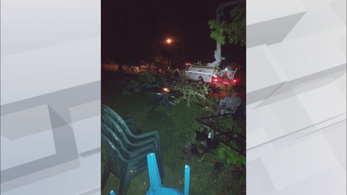 A line of storms caused some damage in Northeastern South Dakota.