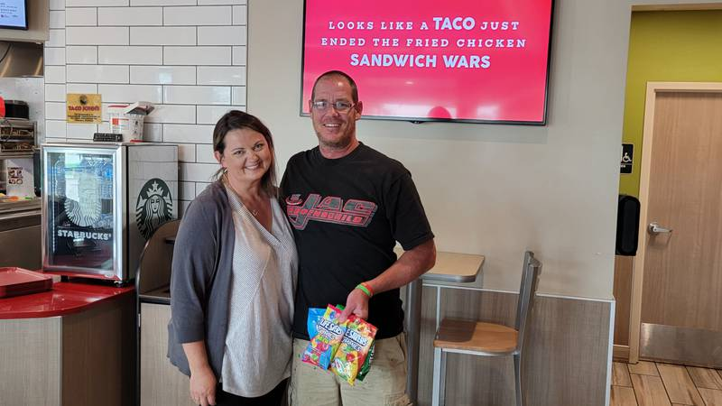 Taco John's worker saves a life after fighting for his own (courtesy: Taco John's)