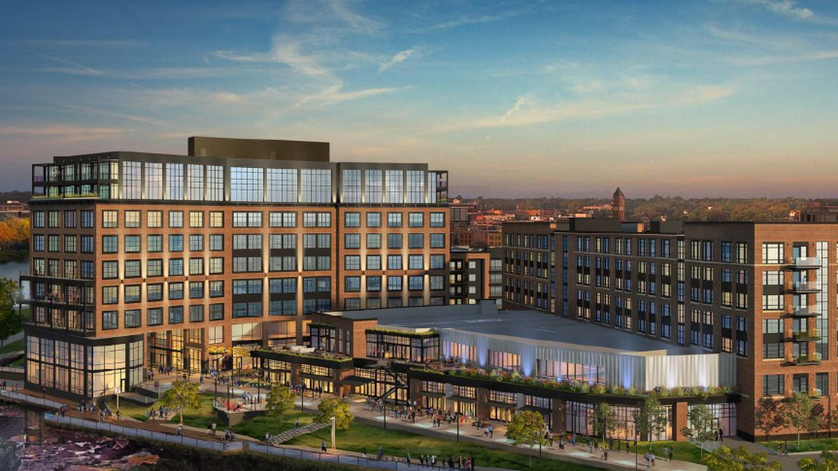 Rendering of plans for the Sioux Steel redevelopment project, courtesy Lloyd Companies.