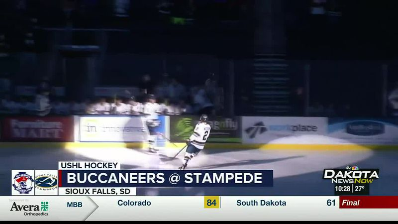 Stampede beat Bucs at Premier Center 4-2