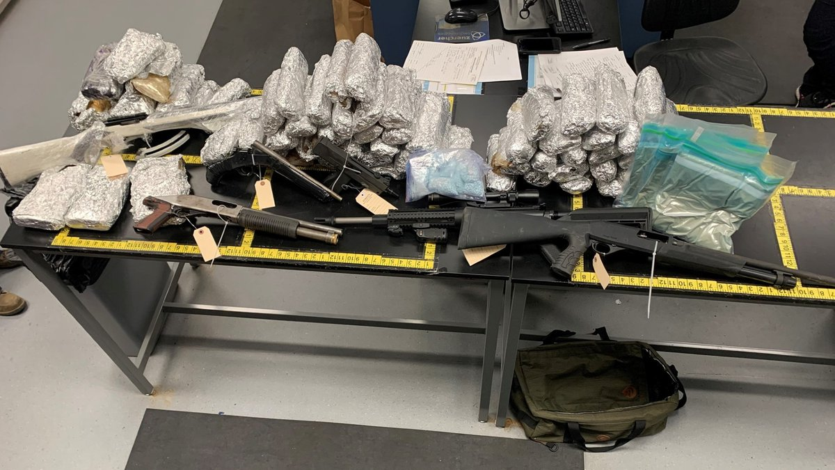 Officials say three search warrants also turned up approximately 10 pounds of cocaine, 6 pounds...
