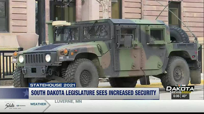 The South Dakota National Guard and the South Dakota State Troopers both had increasing...