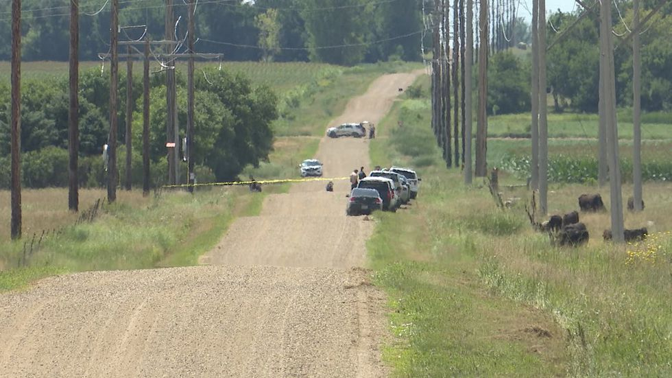 Minnehaha County authorities are investigating after a body was found in a ditch near Wall Lake on Monday.
