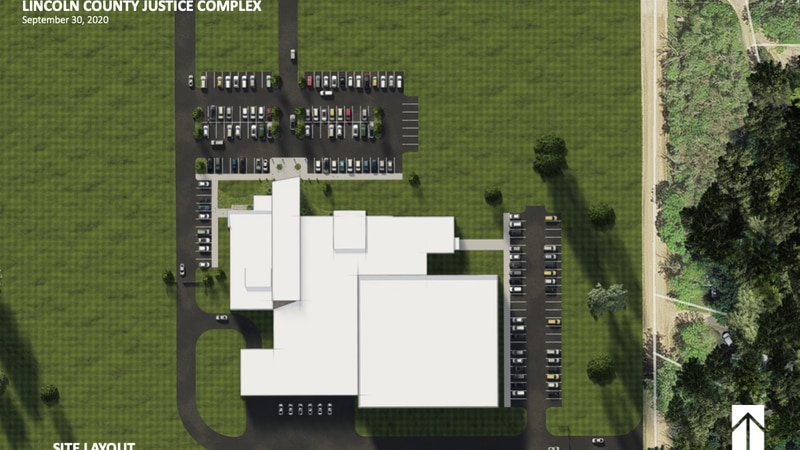Example of Lincoln County Jail Concept Design as of September 2020.