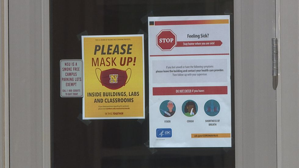 Signs like these are now being placed around campus at Northern State.