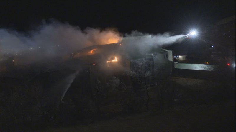 Crews battling apartment complex fire in Pierre, residents evacuated.