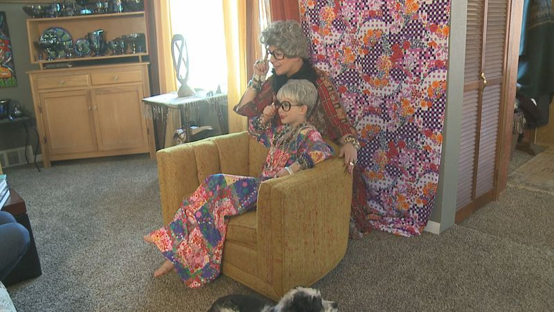 Kim Bartling is teaching her granddaughter about women in history through dress-up.