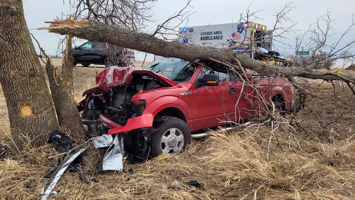 Turner County authorities say a man who struck a tree with a stolen vehicle on Monday was under...
