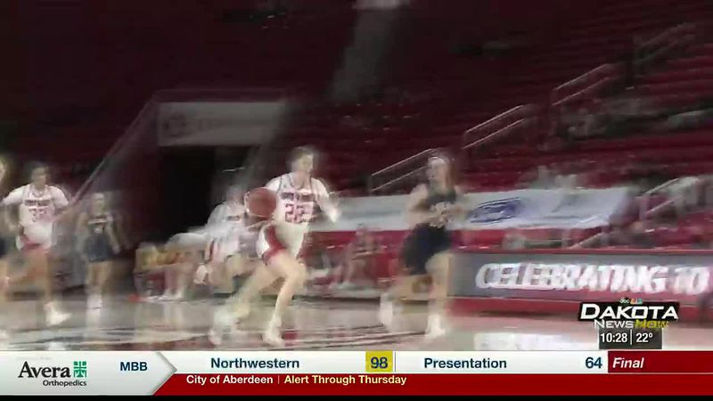 USD women win big over Midland in final tune-up before Summit League schedule