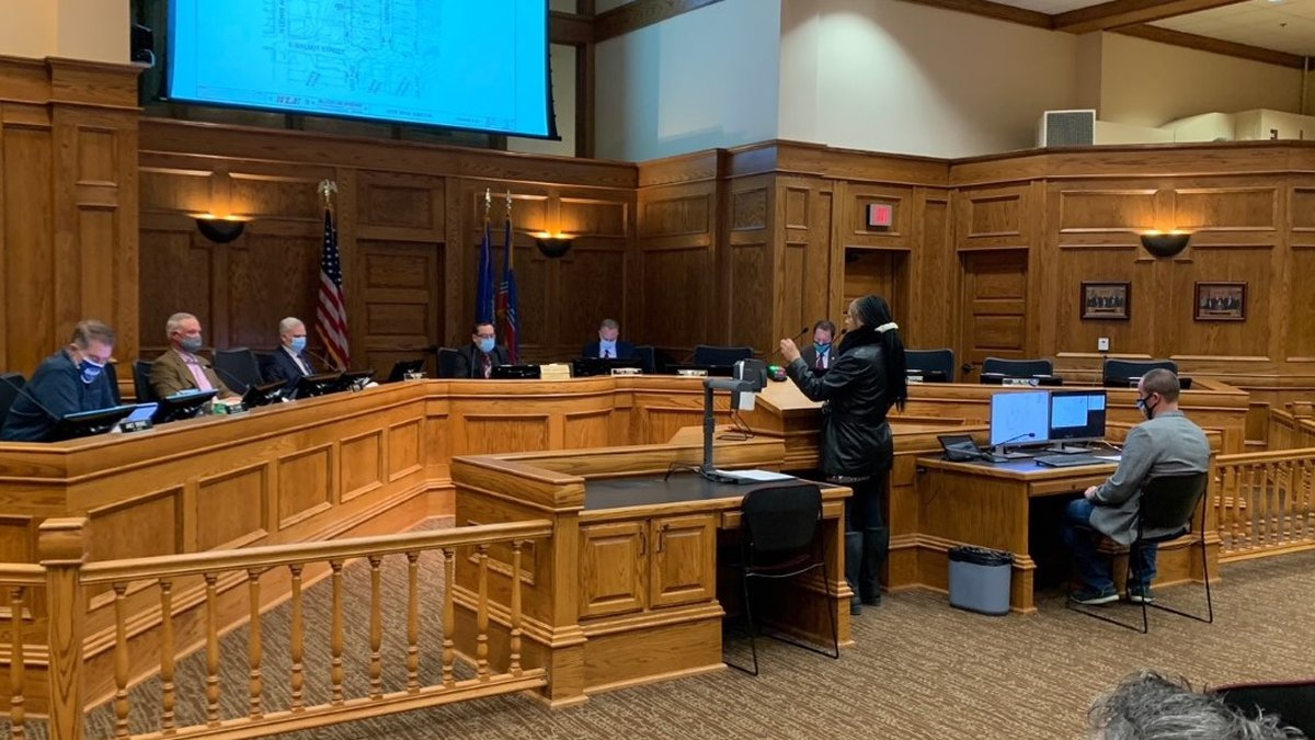Sioux Falls city council members discussed extending the city's mask mandate in a meeting Dec....
