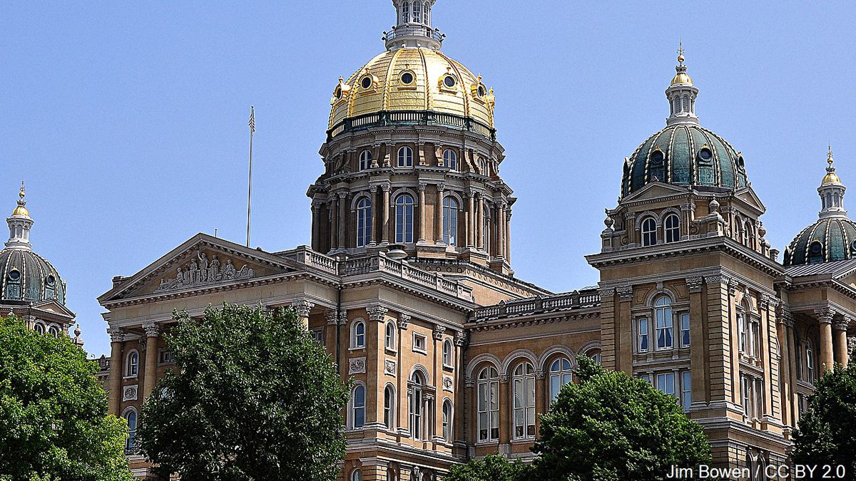 The Iowa State Capitol building.