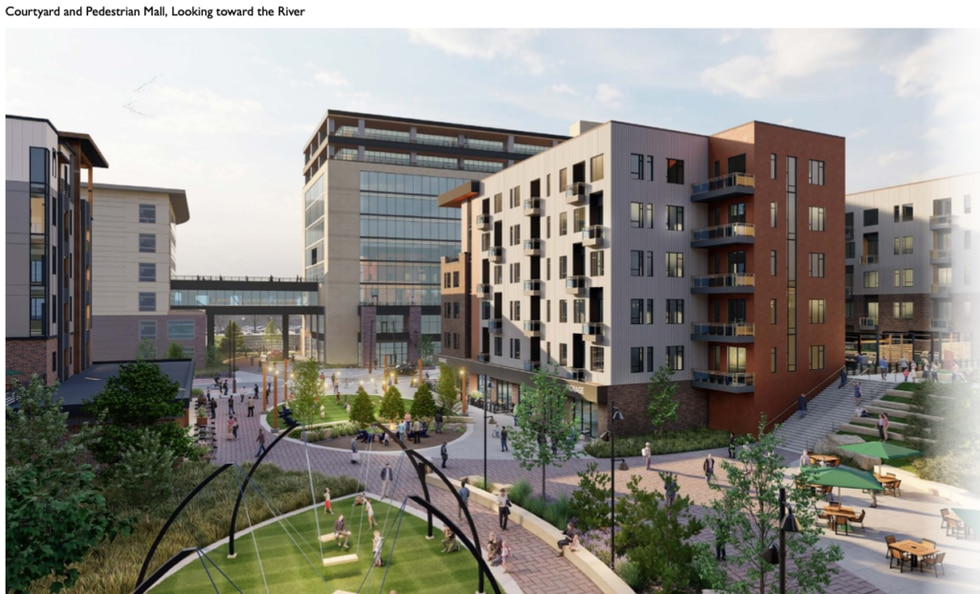 """""""We changed the scope of design to include those amenities like more private courtyards,"""" Haber..."""