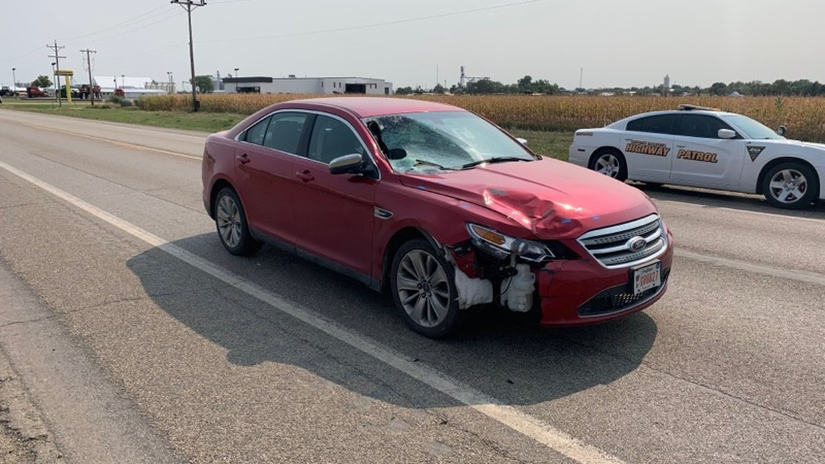A photo of Jason Ravnsborg's vehicle following the Sept. 12 crash. Officials say the photograph...