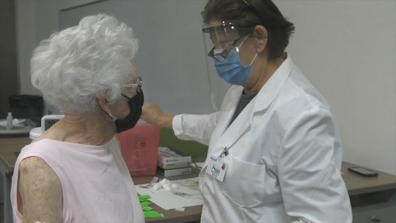 Senior citizens are receiving COVID vaccines as the 1D tier opens in South Dakota