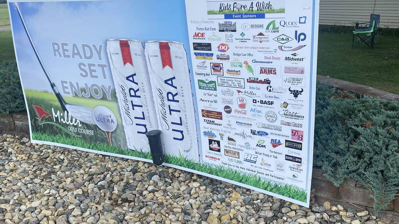 """The annual """"Kids Fore A Wish"""" golf tournament each year in Miller, South Dakota has raised..."""