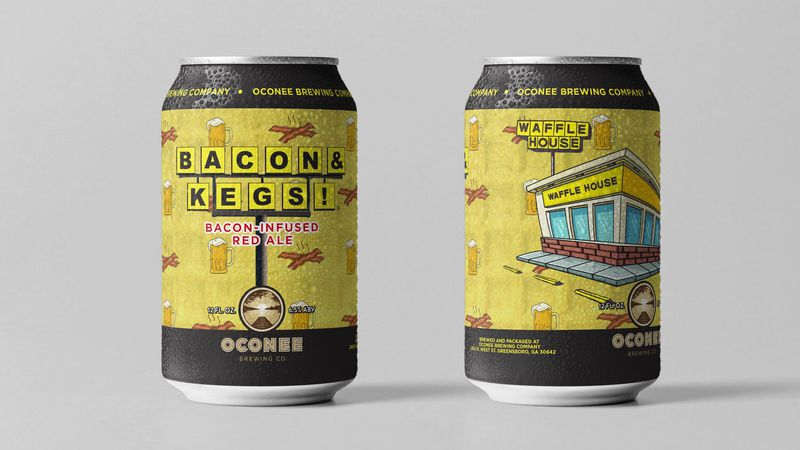 The brew is flavored with a salty, savory and smokey bacon extract.