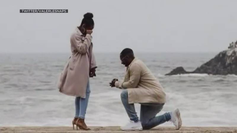 A proposal picture goes viral when the person who took it seeks out the couple on social media.