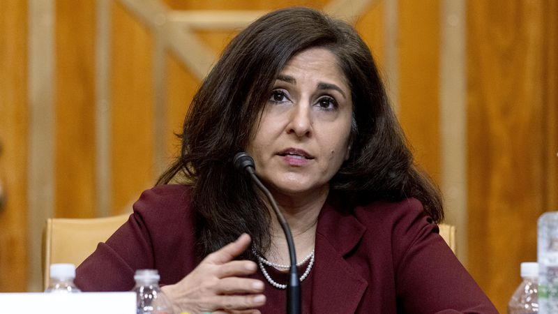 FILE - In this Feb. 10, 2021 file photo, Neera Tanden, President Joe Biden's nominee for...
