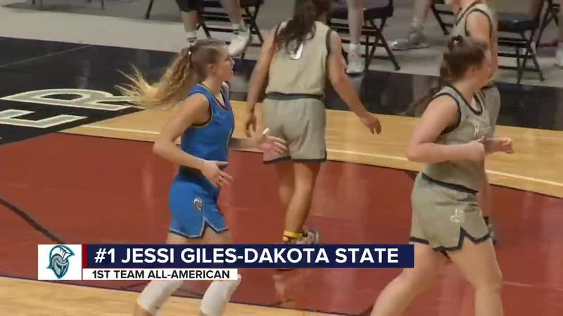 Madison's Jessi Giles is first ever NAIA 1st team All-American for Dakota State
