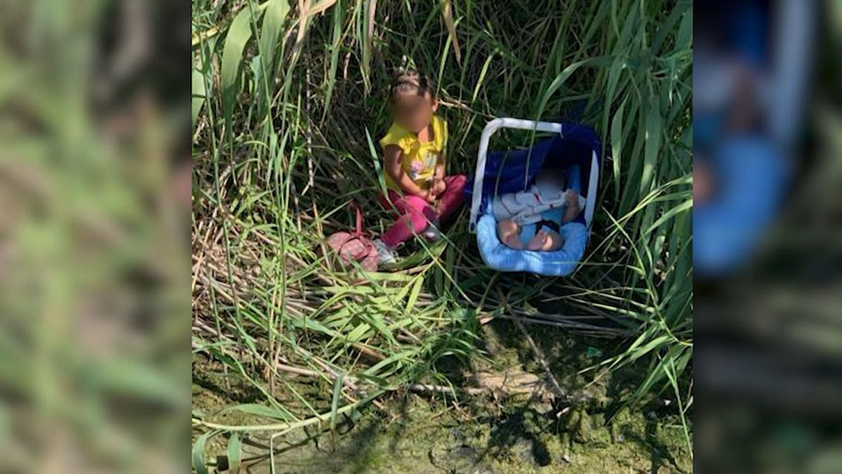 U.S. Border Patrol agents came upon a two-year-old girl and a three-month-old boy. A note left...