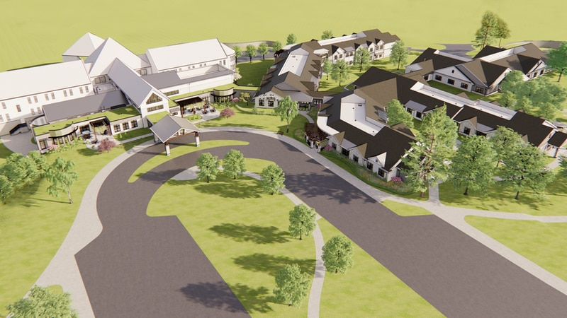Harmony Hill will eventually become a 480-acre campus including residential and educational...
