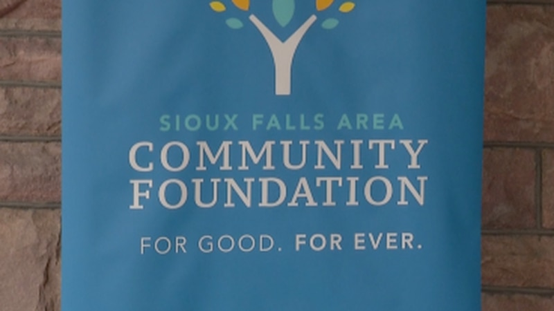 Sioux Falls Area Community Foundation banner from a press conference (FILE)