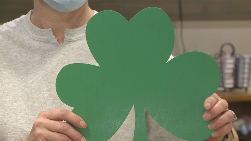 A St. Patrick's Day tradition, the painting of the shamrock will happen today in downtown Sioux...