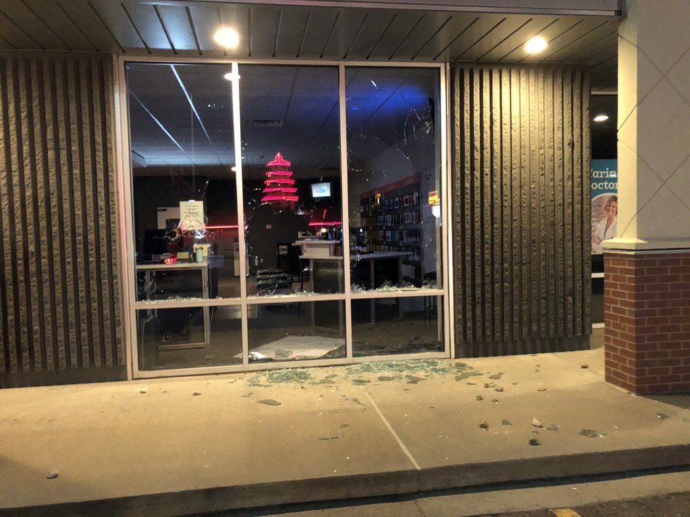 Verizon Store at 41st St. and Kiwanis Avenue after it was vandalized May 31