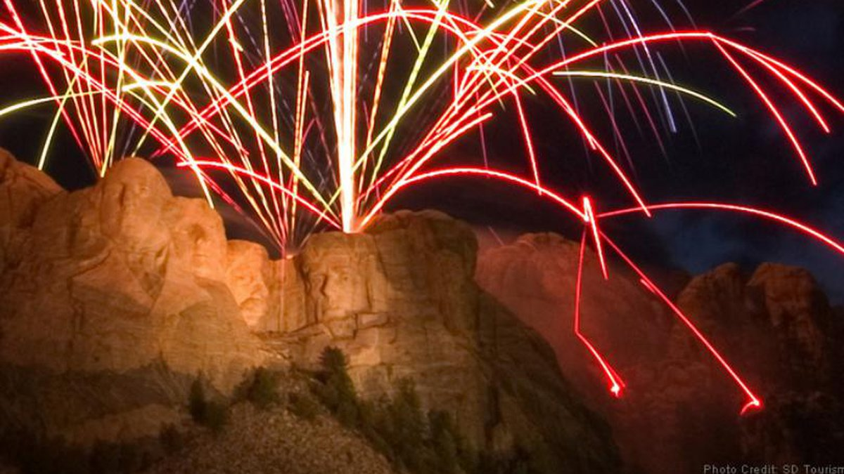Fireworks for the Fourth of July celebrations at Mount Rushmore were stopped due to fire...