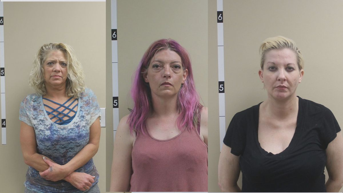 Liza Thomas-Wade, Syringa May, and Annie Freudig were all arrested Sunday on drug charges.