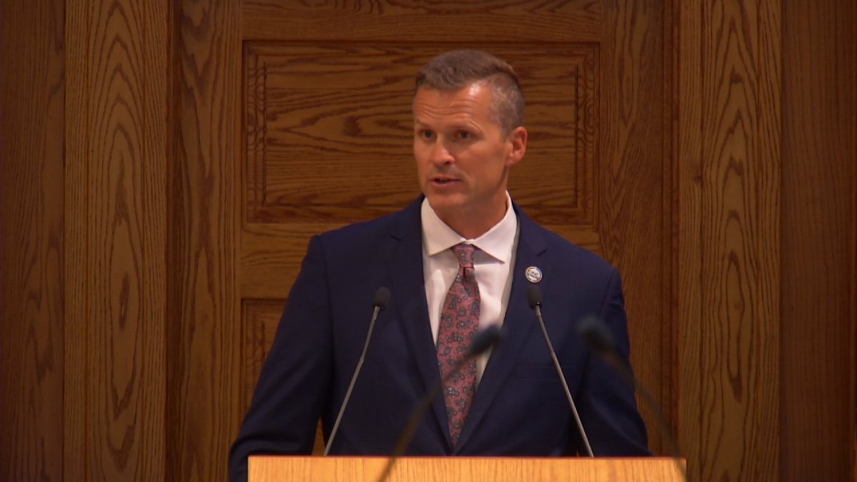 Sioux Falls Mayor Paul TenHaken presented his 2022 budget recommendation to the city council...