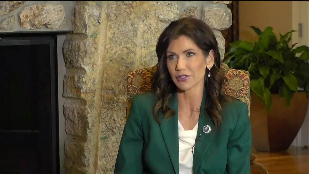 Gov. Kristi Noem in a recent interview with Dakota News Now (file photo)