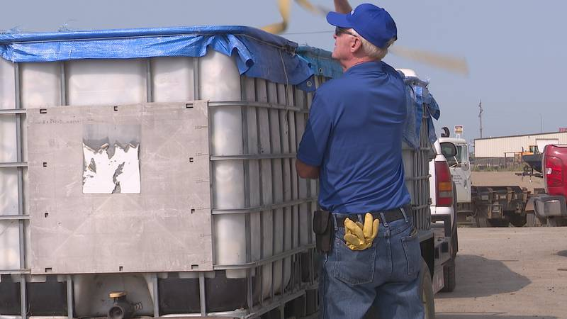 A Huron man has been collecting and donating the proceeds from a massive can and scrap metal...