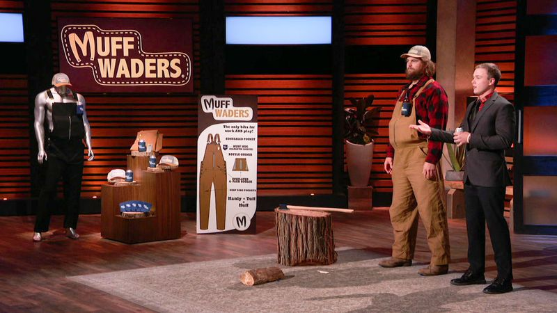 Credit: ABC A couple of friends from Holstein, IA pitch their company, Muff Waders, to the...